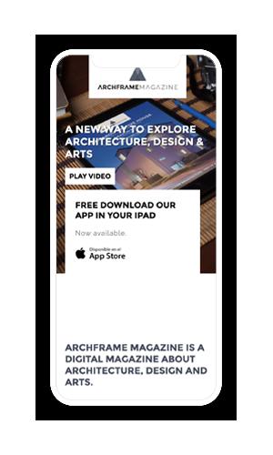 Archframe Magazine web mobile