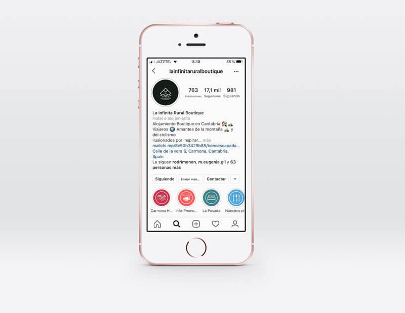 cuenta de Instagram La Infinita