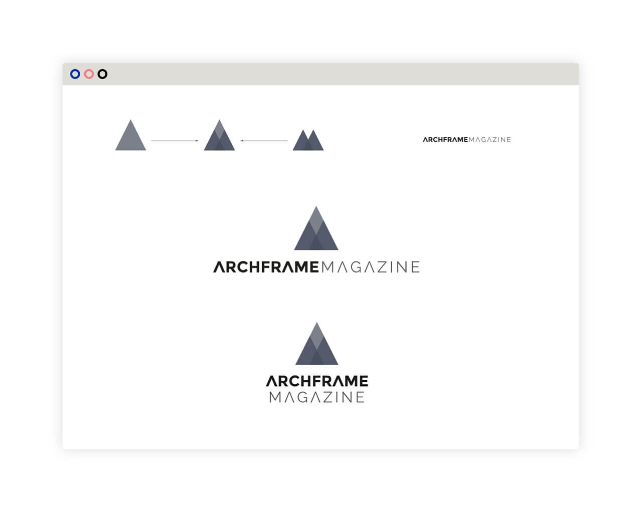 Diseño de logo Archframe Magazine
