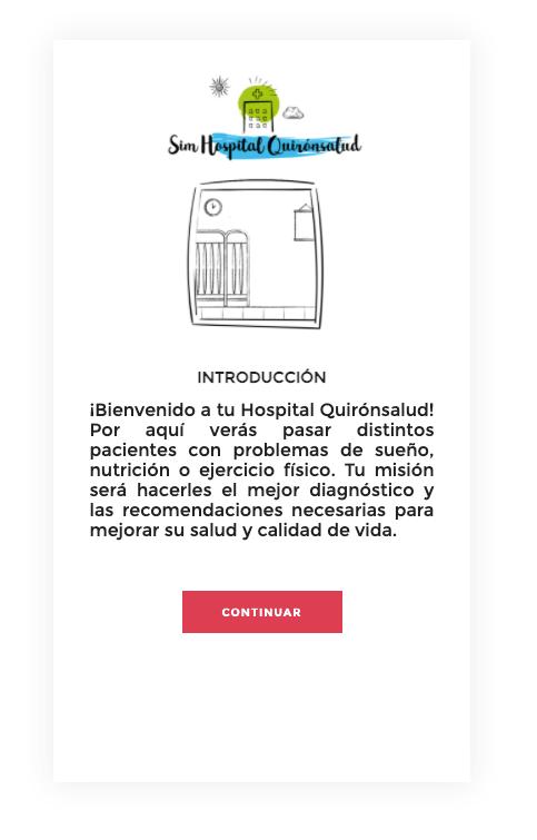 Juego Sim Hospital Quirónsalud
