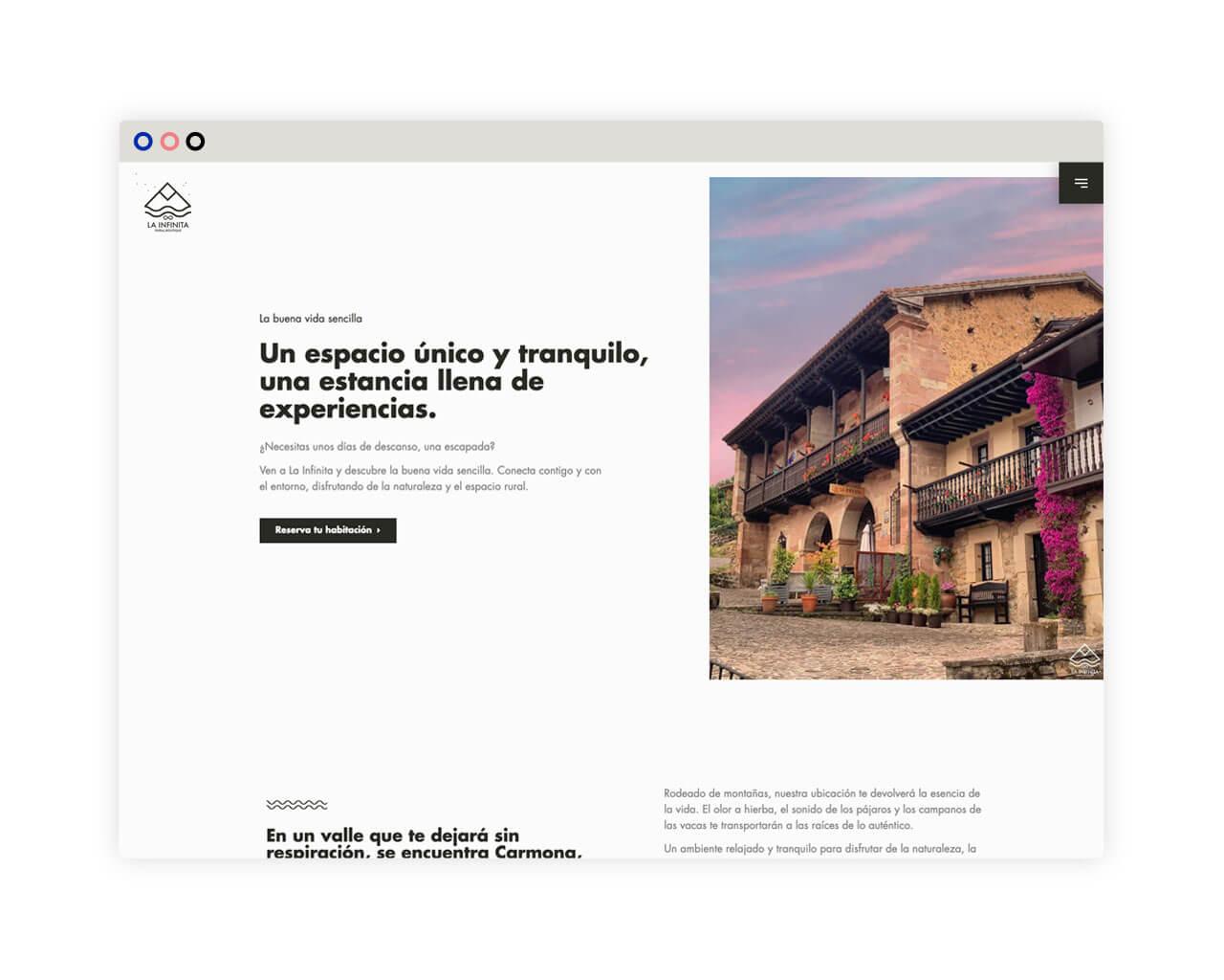 web desktop La Infinita