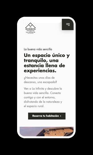 web móvil La Infinita