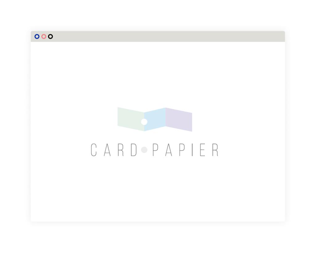 Cardpapier. Branding, diseño de logo