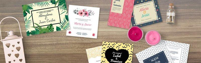 Diseño de producto. Invitaciones de boda
