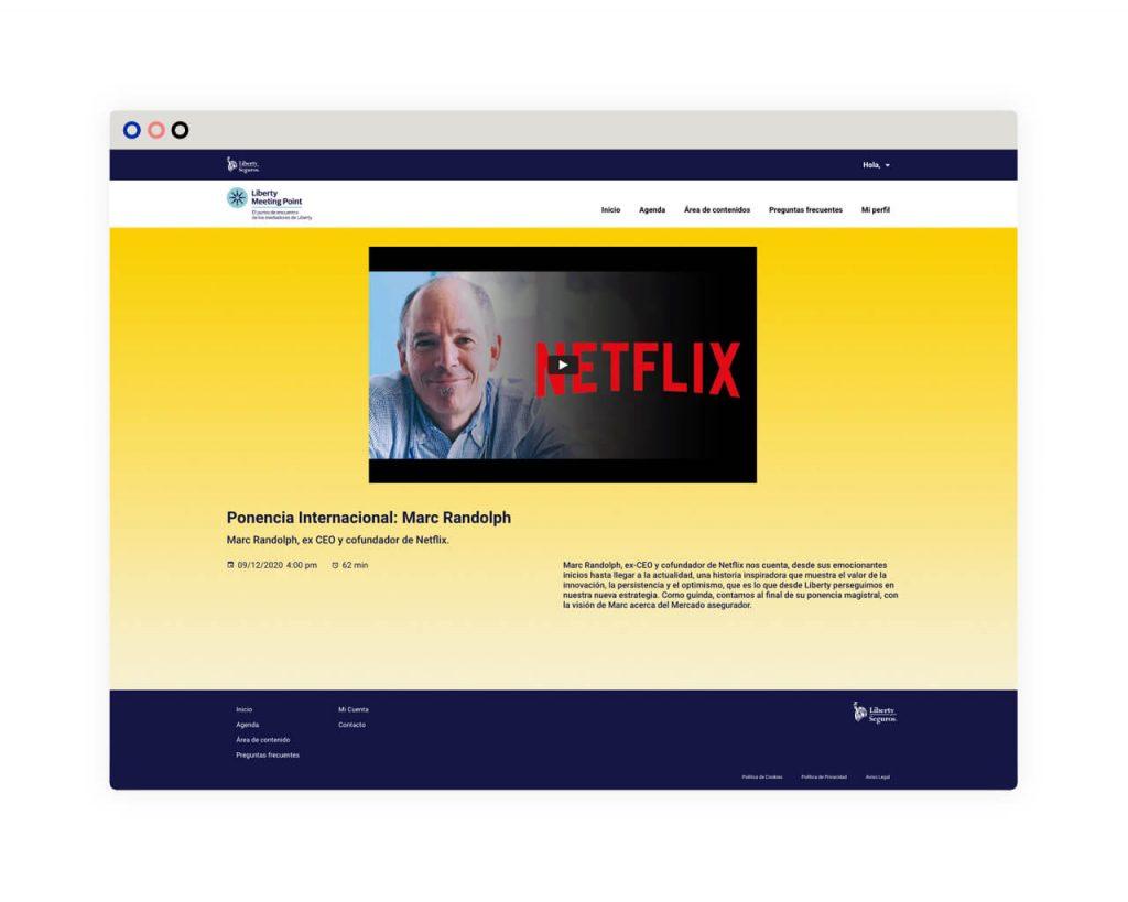 Desarrollo web. Eventos online