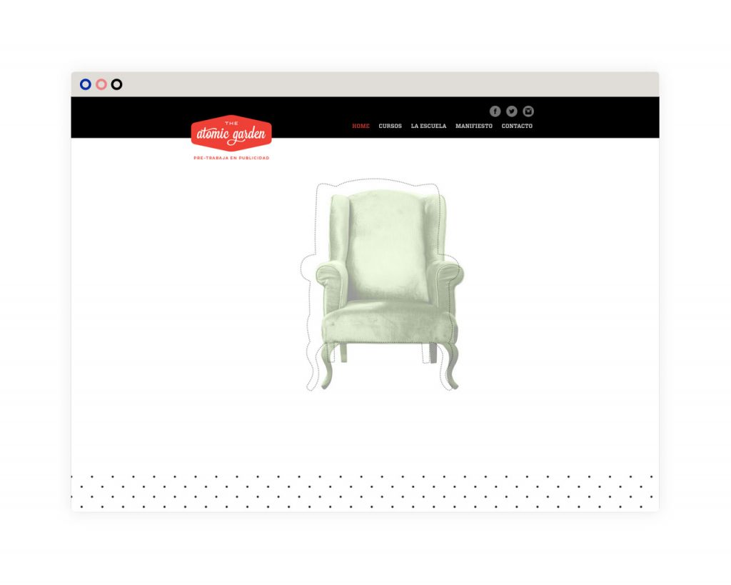 diseño web - home - desktop